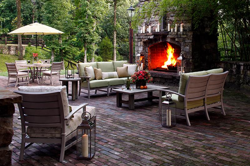 If you have a stunning fireplace, make it the focal point of your gathering area.