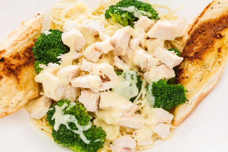 Creamy, Alfredo chicken broccoli ziti will become an instant family-favorite.