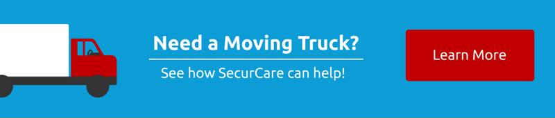Need a moving truck? SecurCare can help! Contact us to learn more.