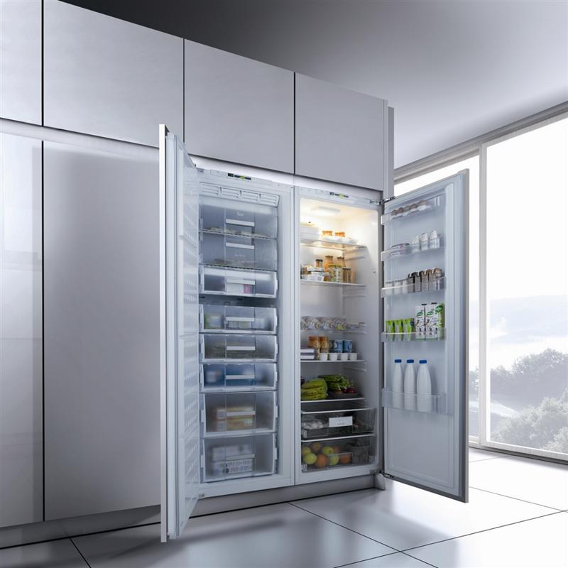 The newest refrigerator models are sleek, modern and elegant.