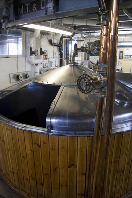 Malts are steeped inside of the mashtun resulting in a product called wurt.