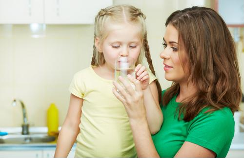 Image result for sick child drinking