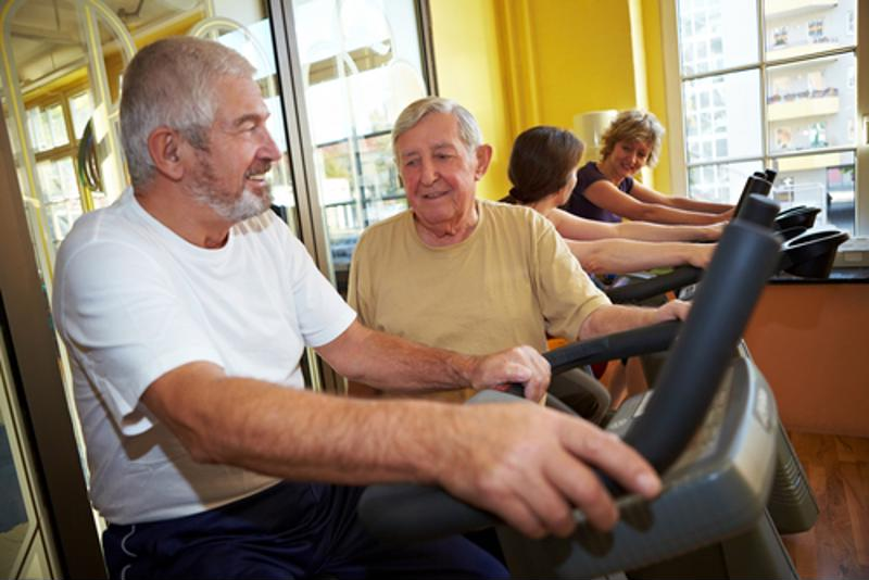 Use exercise machines at the fitness center to improve the blood flow to your brain.
