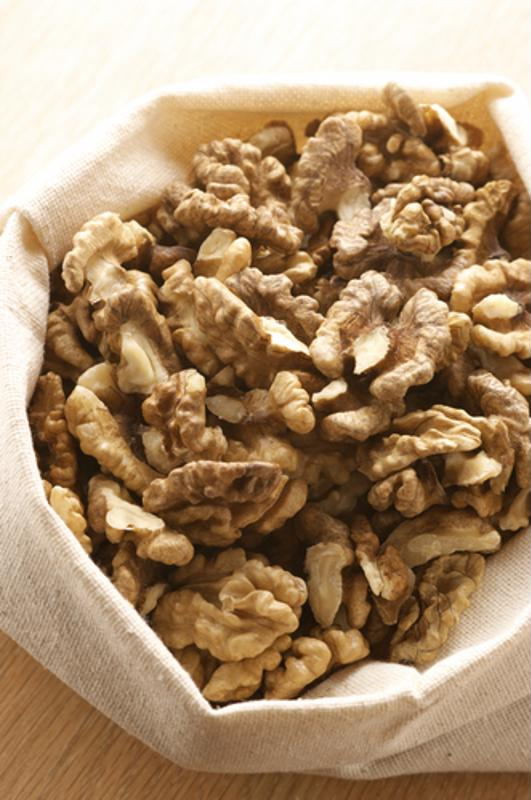 Raw nuts are a great source of calcium.