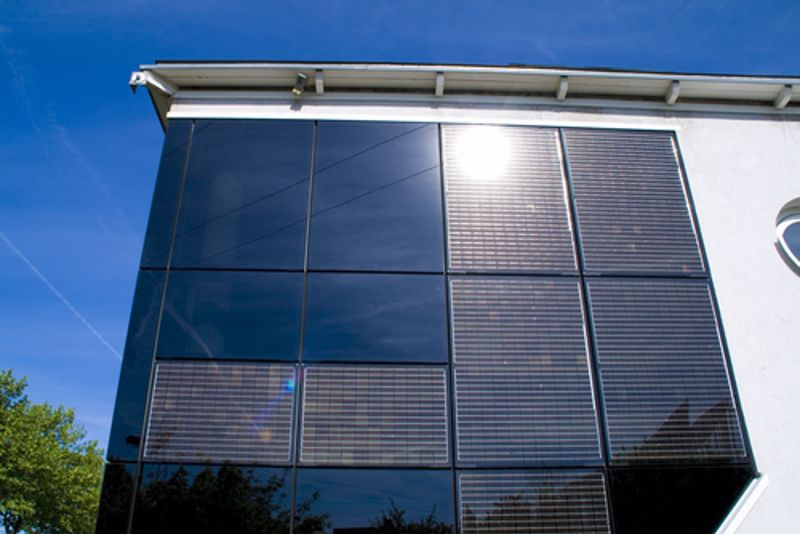 Shade your interior with rectangular perforated metal.