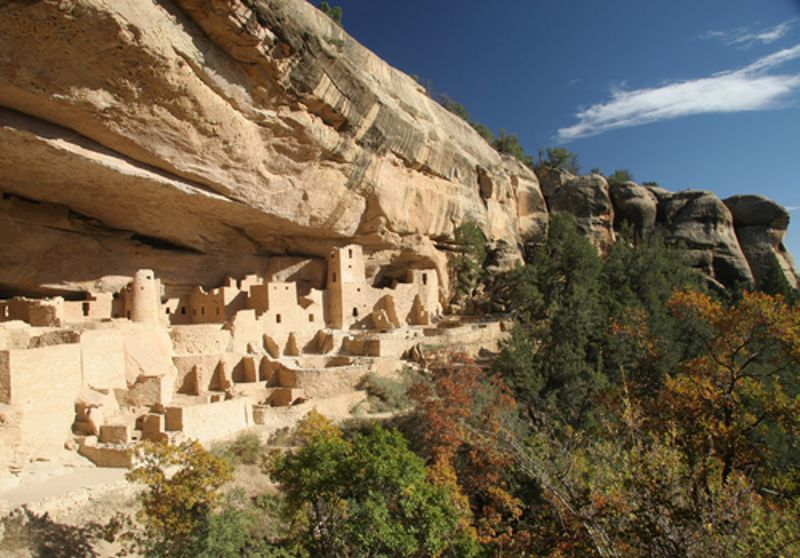 Historic Pueblo homes were typically built into the side of a cliff.