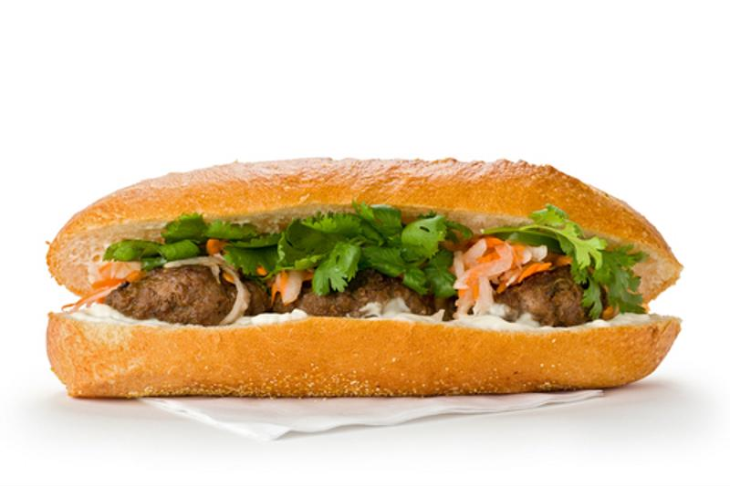 Carrot slow and fresh cilantro are what really complete the authentic Bahn Mi sandwich.