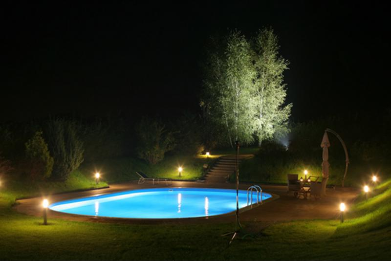 A night swim is one of the greatest pleasures of owning a pool.