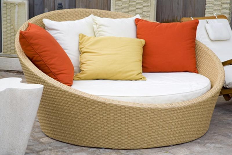 Scrub your outdoor pillows to keep them clean.
