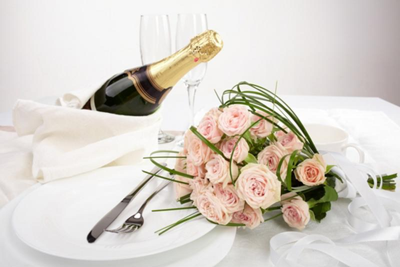 Set the table with all your favorite romantic objects.
