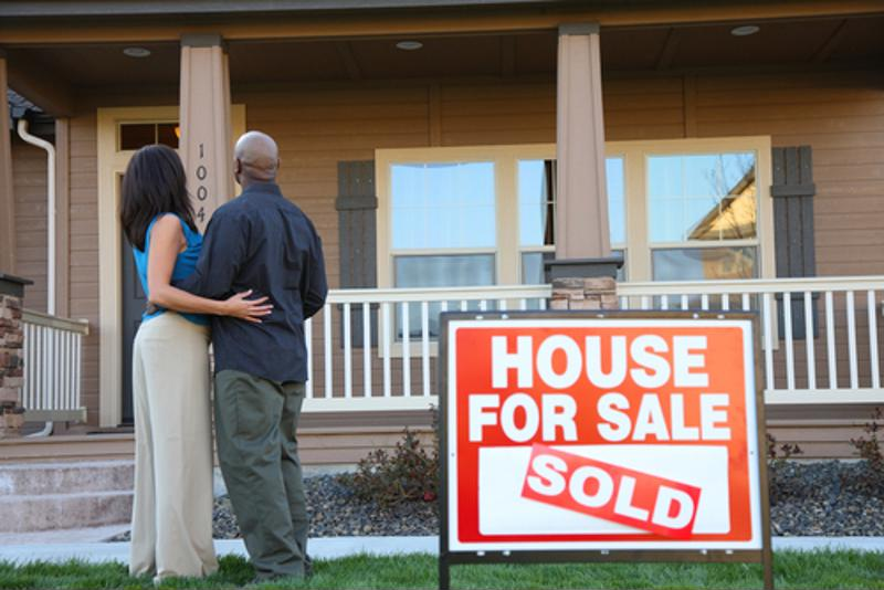 Couple buying a home.