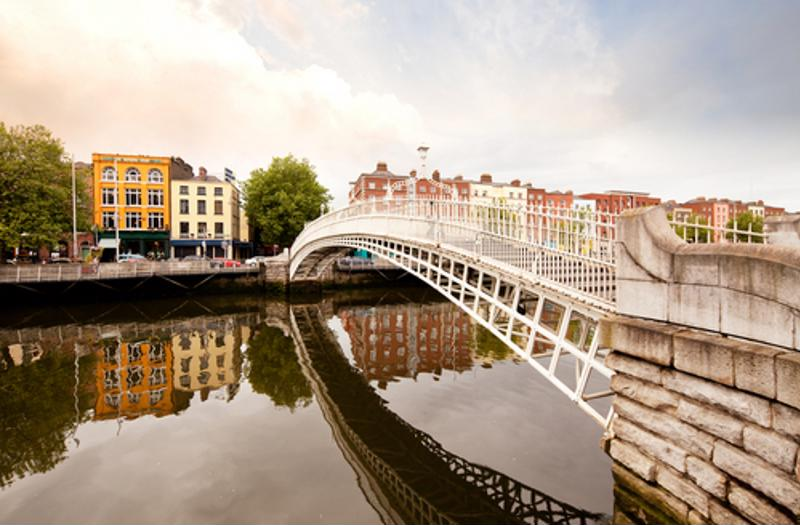 A bridge in Dublin.