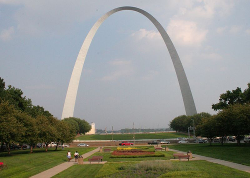 The Gateway Arch is a sure sign you've passed into the American West.