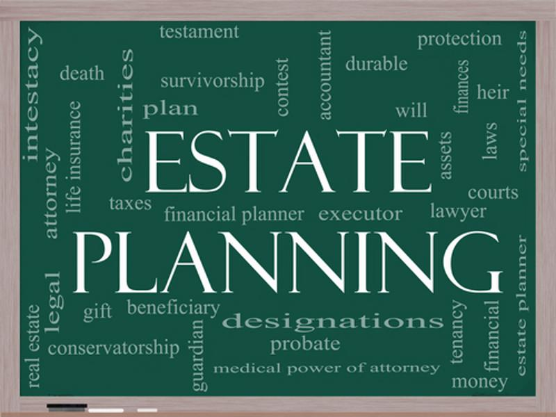 Estate planning graphic.