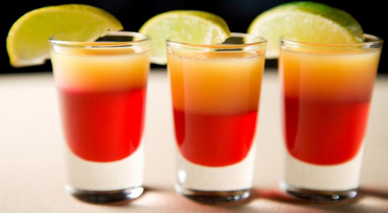 Layered drinks come in all shapes and sizes.
