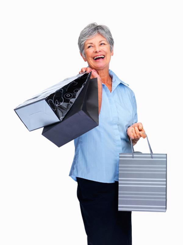 senior, discount, shopping, clothes