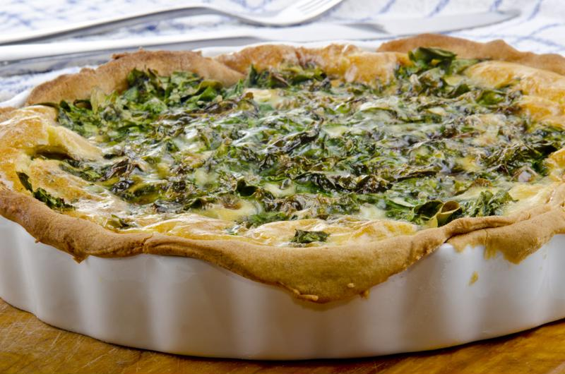 This green-inspired quiche is as delicious as it is festive.