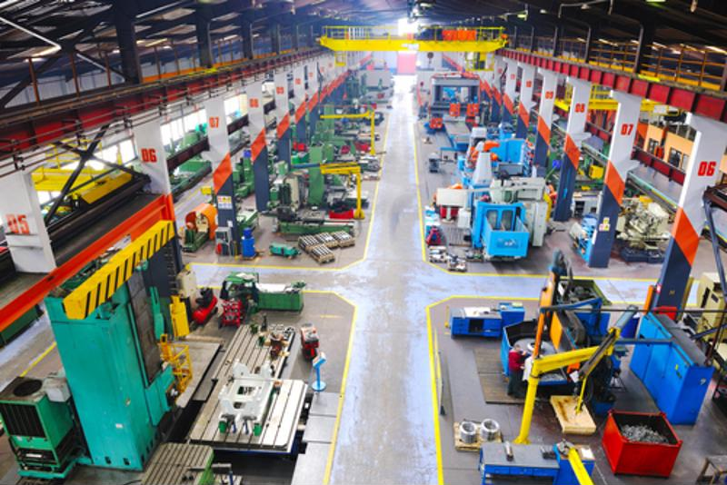 Inside look at a manufacturing plant.