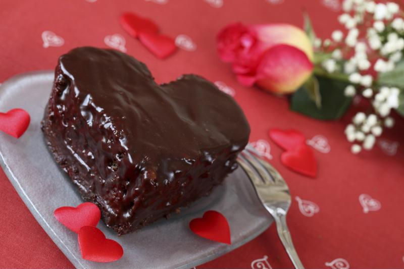 Shape your carob cake into a heart for your loved one this Valentine's Day!