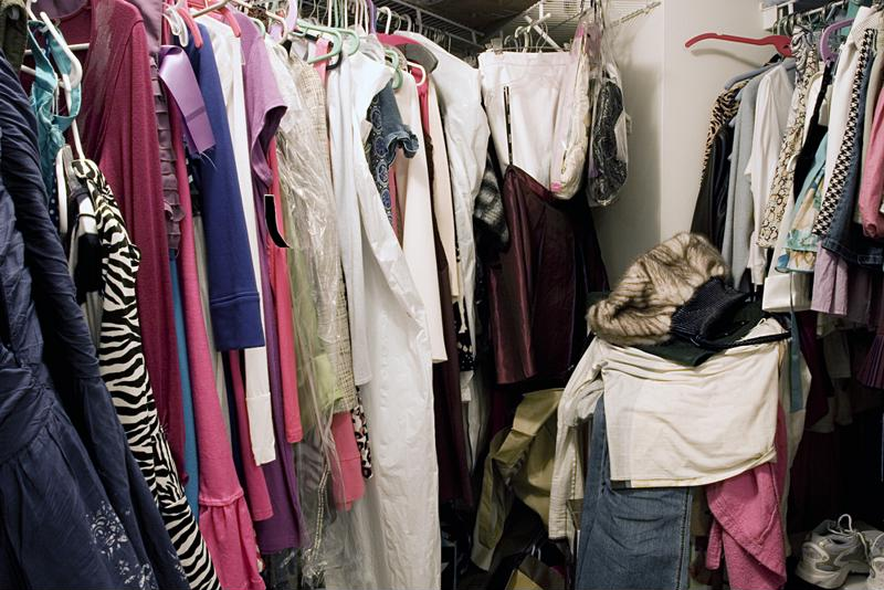 You probably are not wearing everything in your cluttered closet.