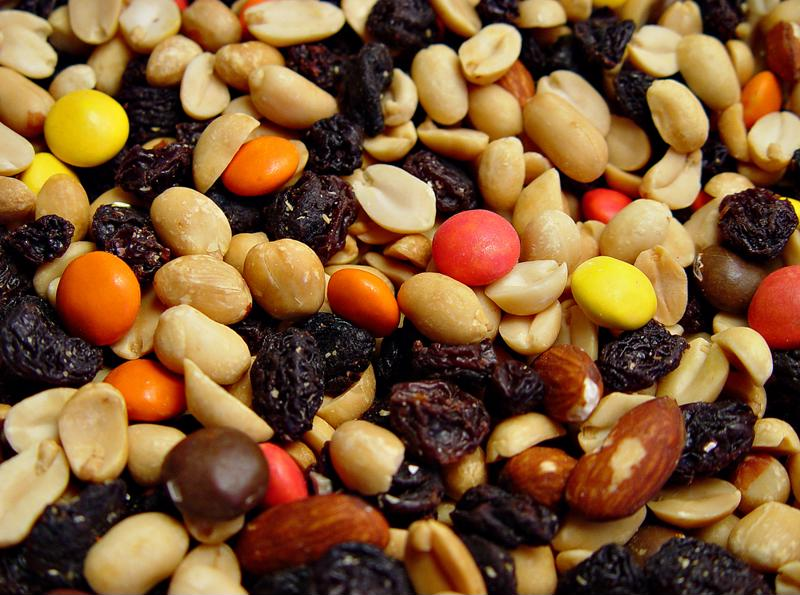 Pack your basket with trail mix.