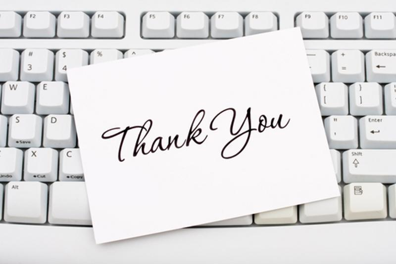 Write thank you letters to your employees to show how much you appreciate their hard work.