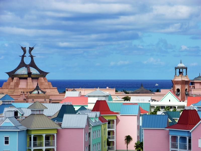 The buildings in the Bahamas are nearly as beautiful as the beaches.