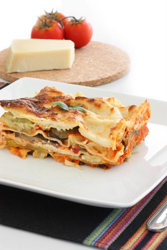 Eggplant lasagna is a perfect way to enjoy the cheesy goodness of this dish with veggies.