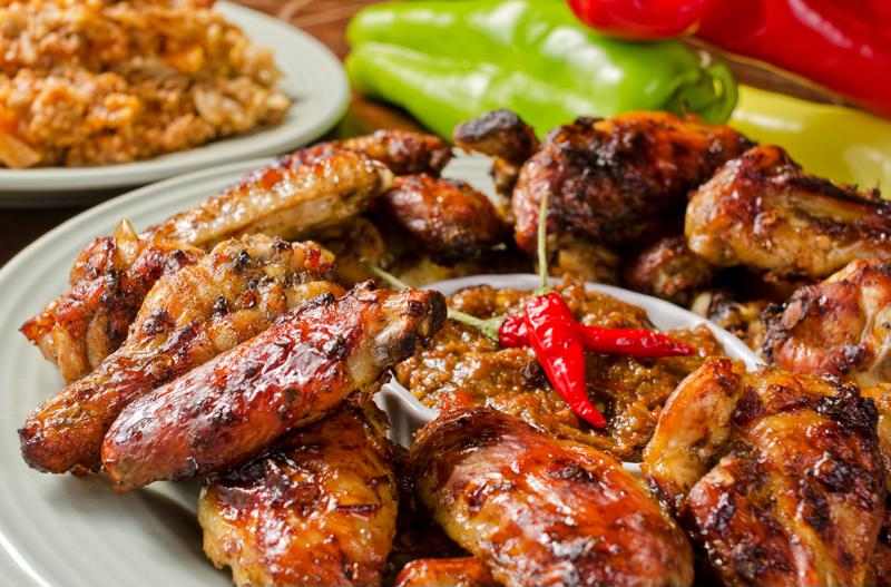 Mole chicken wings will be a huge hit at your party.