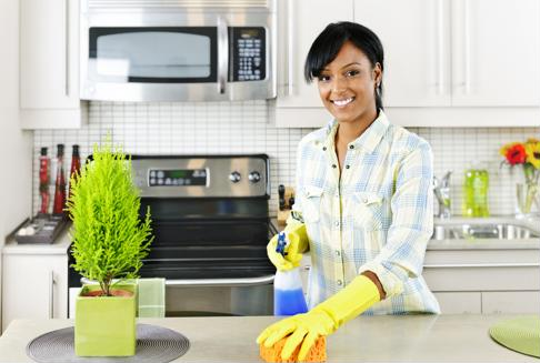 Keeping your counter tops sanitized will reduce the spread of bacteria.
