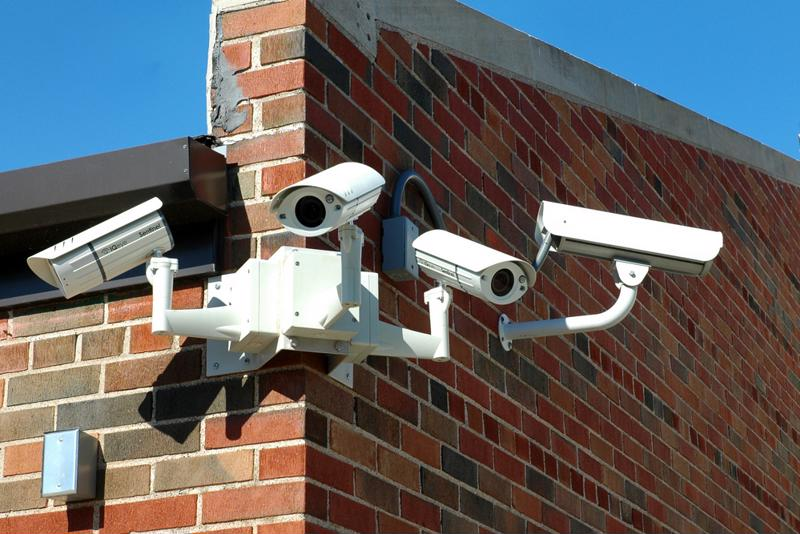 Security cameras are often hiding in plain sight, usually because this usually serves as a theft deterrent.