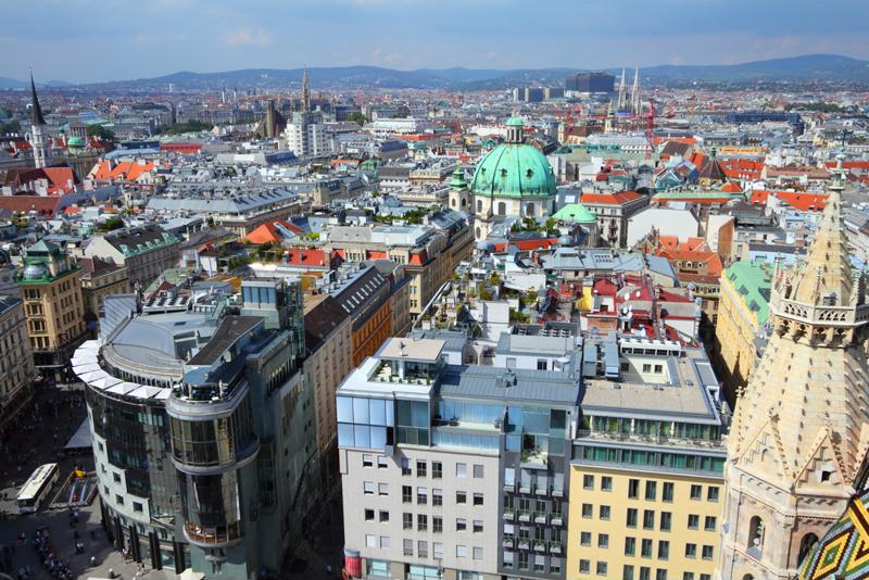 Vienna, from above