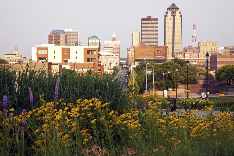 Des Moines plays host to a population of roughly 200,000.