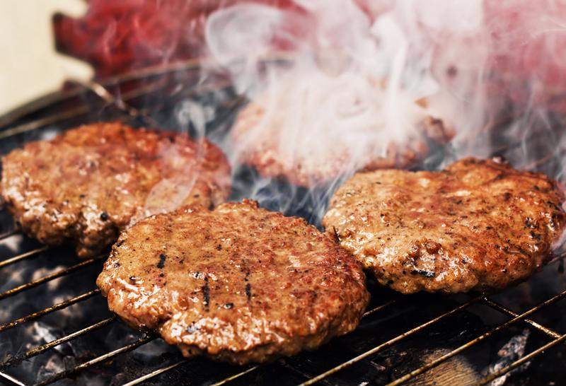Thick, juicy burgers are best on the grill.