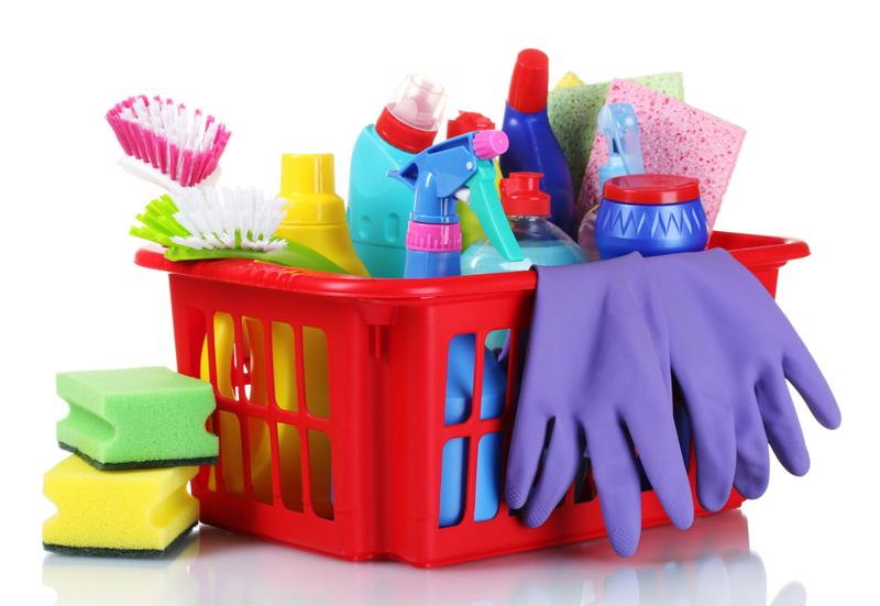 Gather up all your cleaning supplies and really scrub those surfaces.