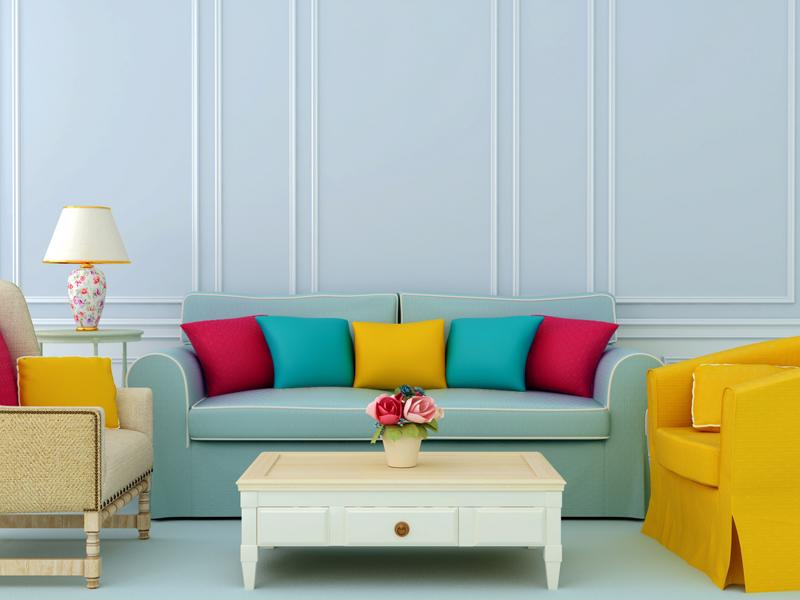 Bringing in bright colors and fresh flowers will make your home feel like spring.