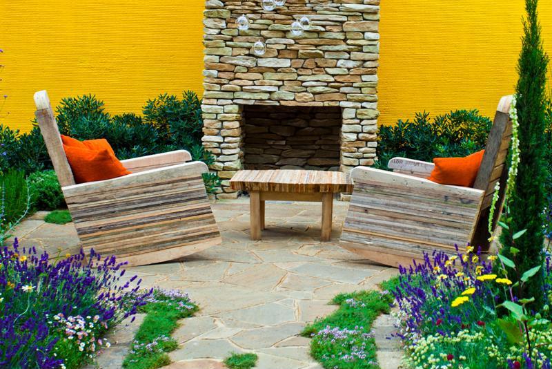 outdoor fireplace, custom patio, pavers