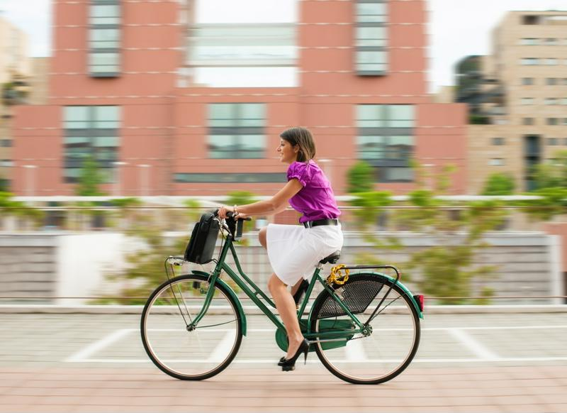 Biking to work is a great way to save money on monthly fuel expenses.