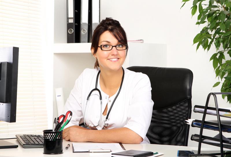 Doctor at her desk