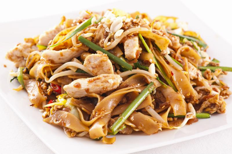This peanut chicken serves great over noodles.