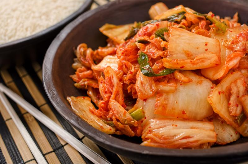 Kimchi is a Korean dish with longstanding popularity in Hawaii.