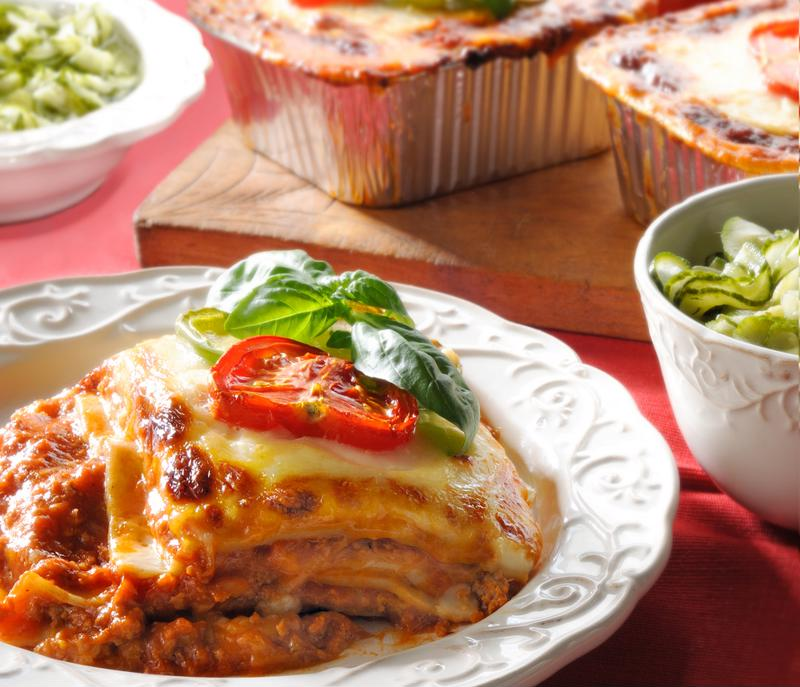 Lasagna for lunch? Count us in.