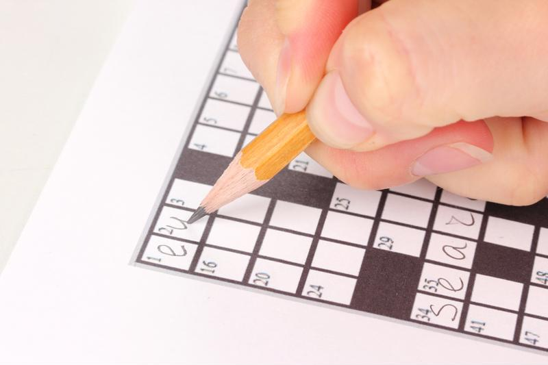Crossword puzzles are a great cognitive exercise for those with Alzheimer's disease.