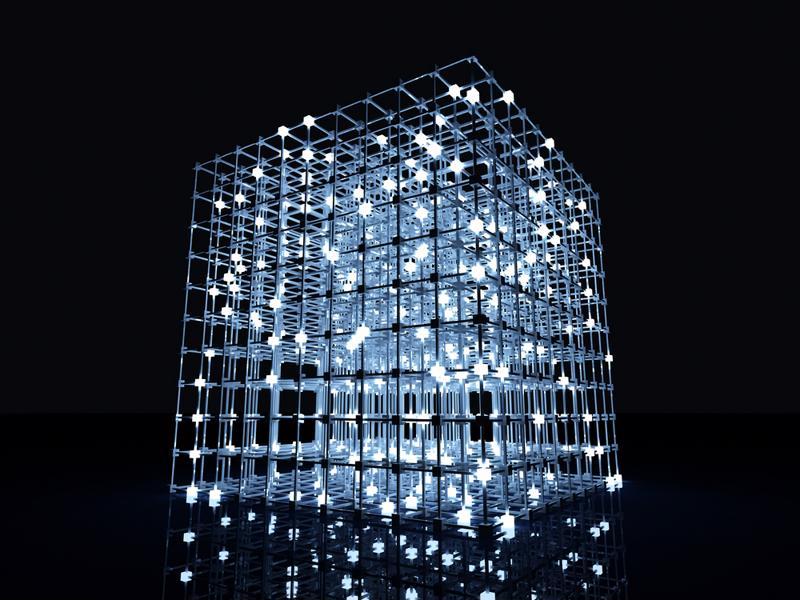 Energy grid lights up based on power usage