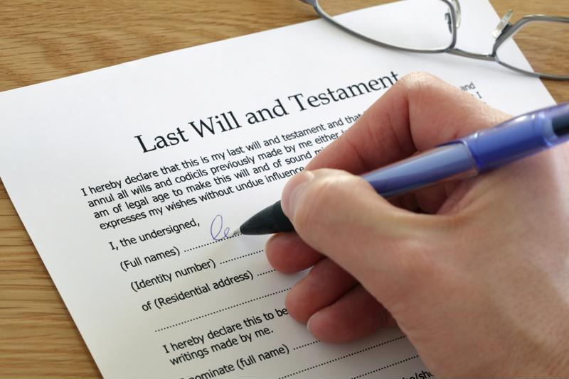 Writing a will is critical.