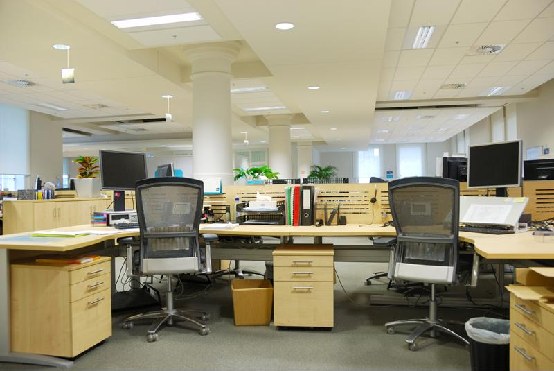 Empty-looking open plan office