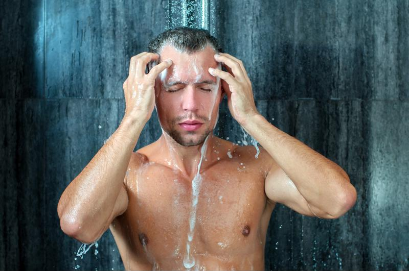 A warm shower is a great way to fight off the cold.