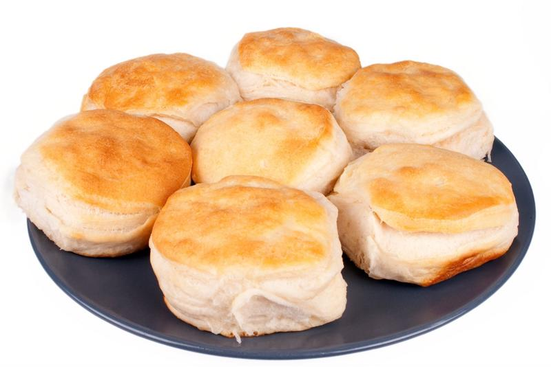 Layering your biscuits will make them perfectly airy and flaky.