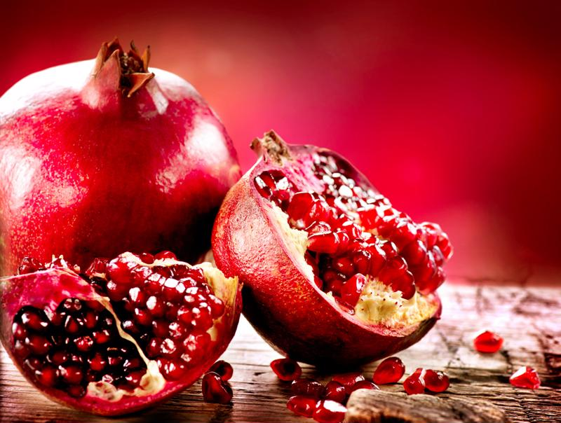 Pomegranates are a popular winter fruit.