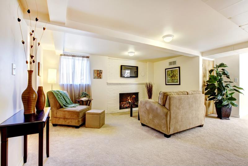 Carpet tiles offer quick installation and faster cleaning for your basement.
